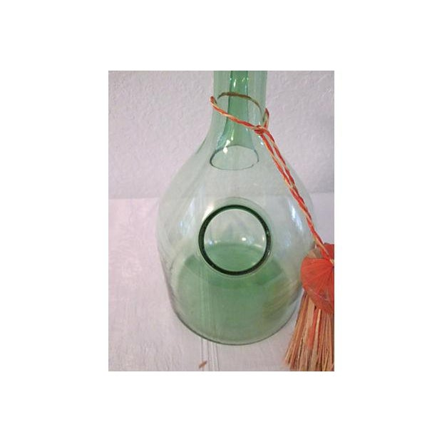 Vintage Italian Green Blown Glass Wine Carafe - Image 5 of 8
