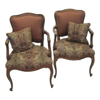 Pair of Bergere Chairs For Sale