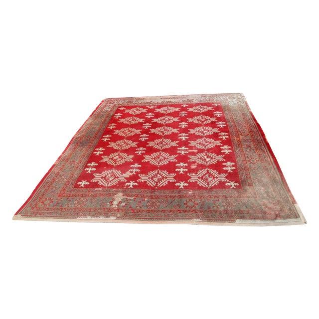 Large Vintage Turkish Wool Rug - 13′ × 14′6″ - Image 1 of 8