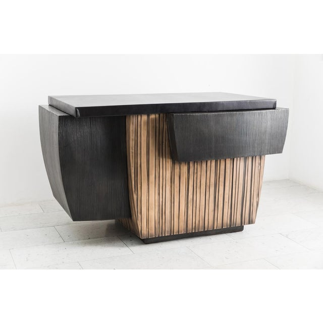 Blackened Steel and Layered Bronze Desk, Usa, 2019 For Sale - Image 13 of 13