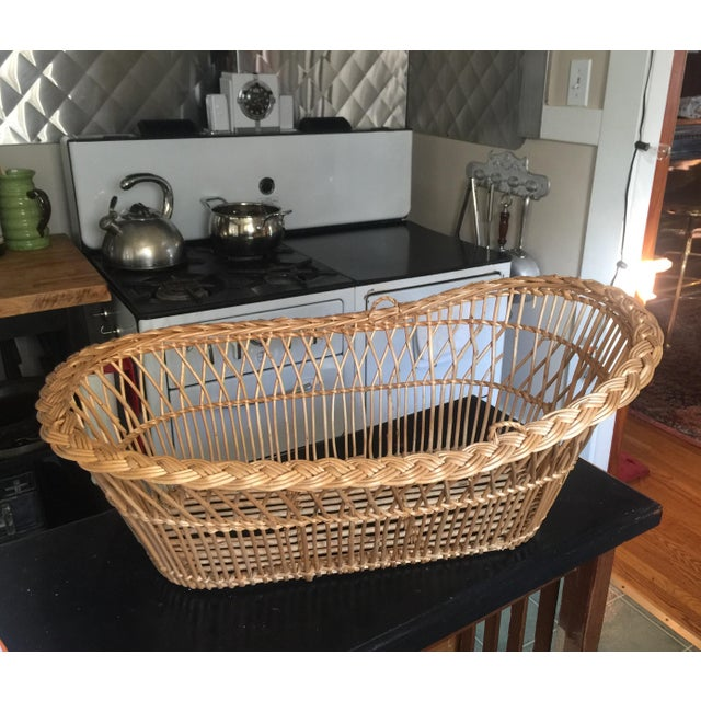 French Vintage Mid-Century French Laundry Basket For Sale - Image 3 of 7