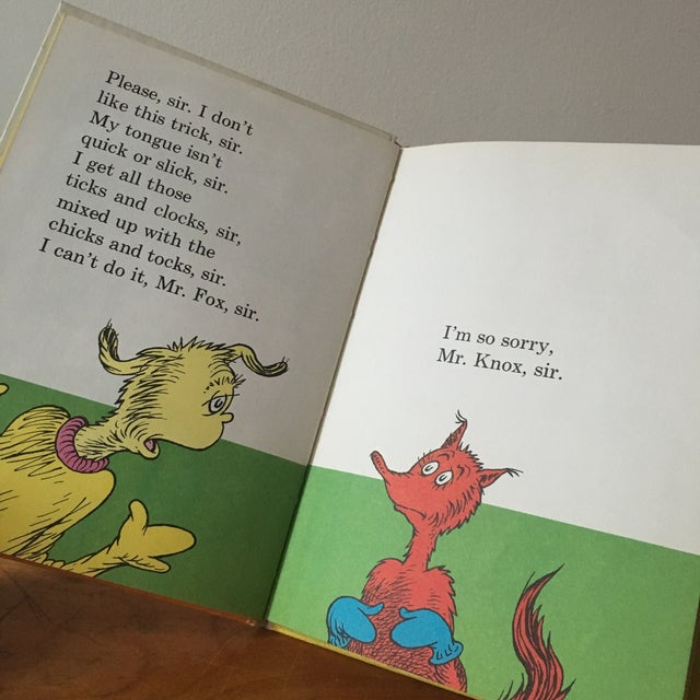 First Edition Dr Seuss Fox in Socks, 1965 For Sale - Image 4 of 6