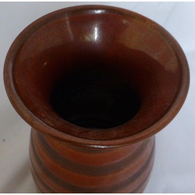 Mid Century Otagiri Japanese Pottery Vase For Sale - Image 4 of 6