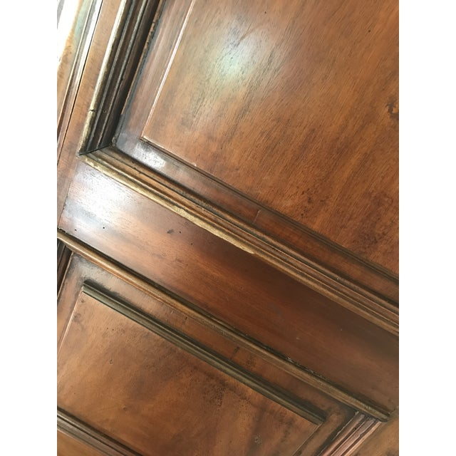 French Provincial Carved Wood Armoire - Image 7 of 8