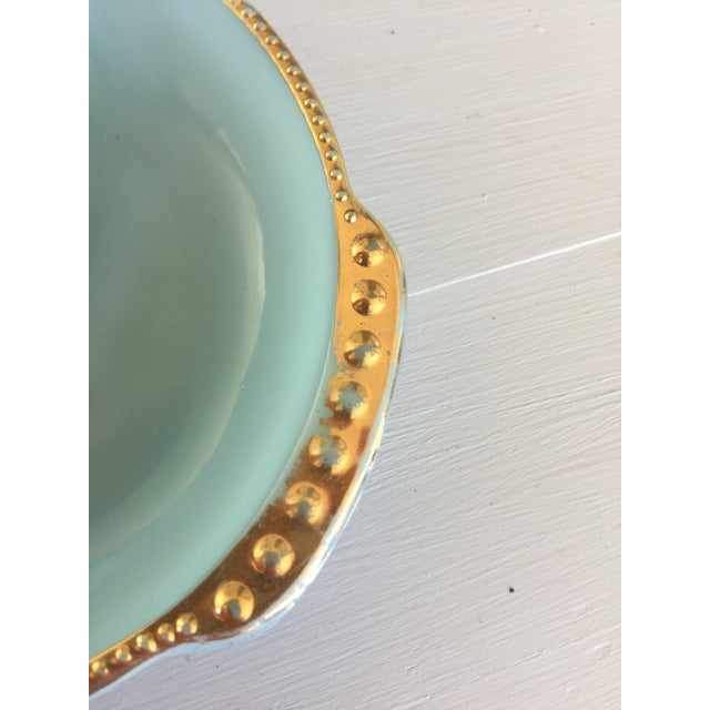 Fire King Blue & Gold Dish For Sale In Dallas - Image 6 of 9