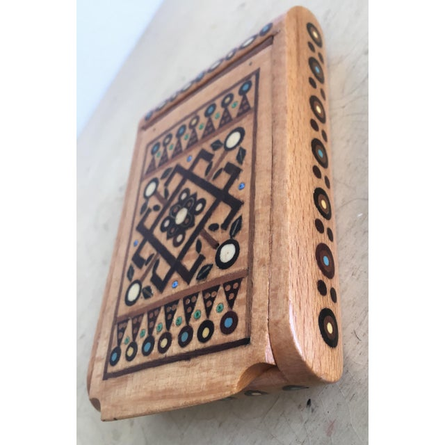 Bohemian Chic Wooden Jewelry Box - Image 3 of 6