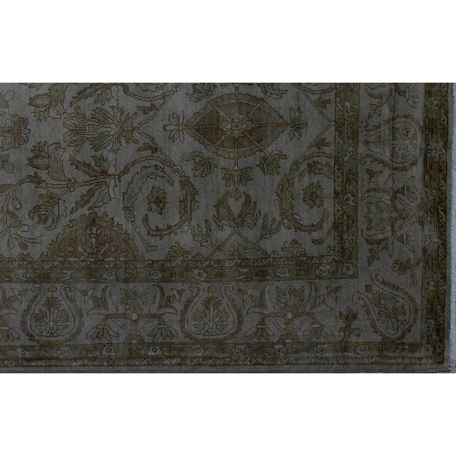 Over Dyed Color Reform Oretha GrayWool Rug - 8'2 X 10'0 A1435 For Sale - Image 4 of 7