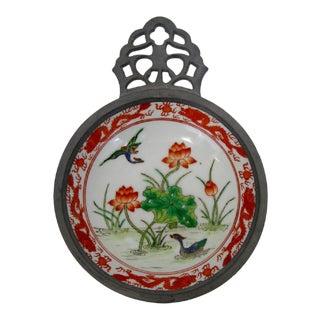 Porcelain & Pewter Porringer