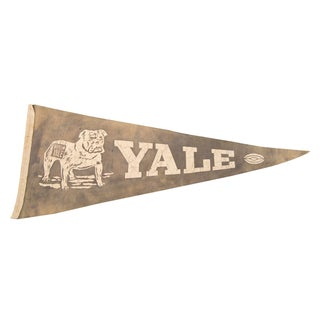 Yale Beat 'Em Yale With Football Felt Flag For Sale
