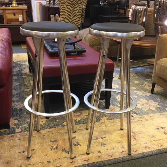 Indecasa Black Barstools - a Pair - Image 2 of 7
