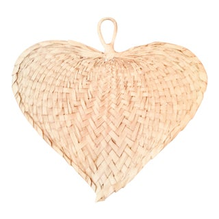 1970s Vintage Raffia Fan For Sale