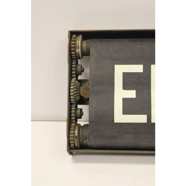 Rustic Early 20th Century Vintage New York City Train Destination Sign For Sale - Image 3 of 3