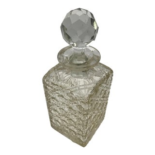 Antique Cut Crystal Decanter For Sale