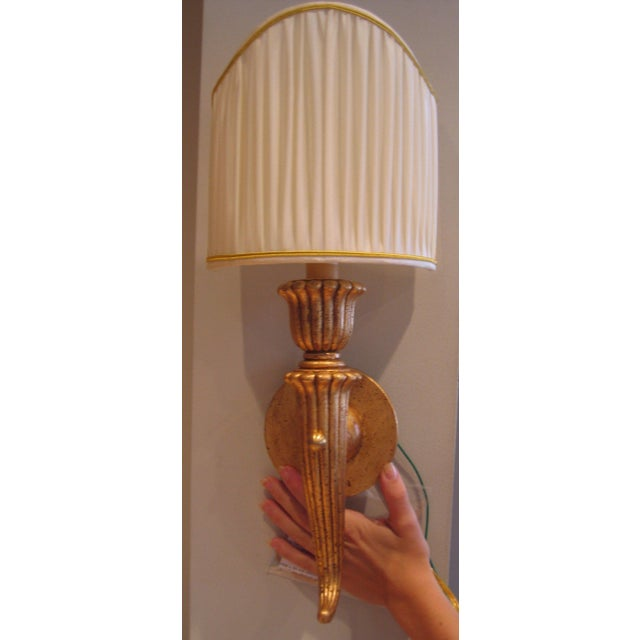 Italian Hand Carved Wood Sconce - Image 3 of 4