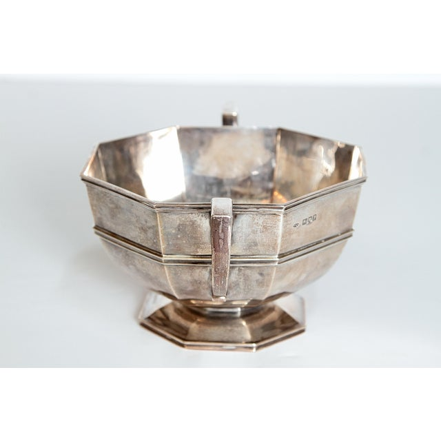 Amorial Silver Pedestal Bowl / Cup by C. C. Pilling for Tiffany & Co. For Sale - Image 4 of 11