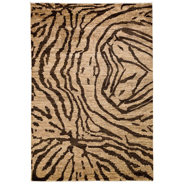 "Ziegler, Hand Knotted Area Rug - 6'5"" X 9'4"" For Sale"