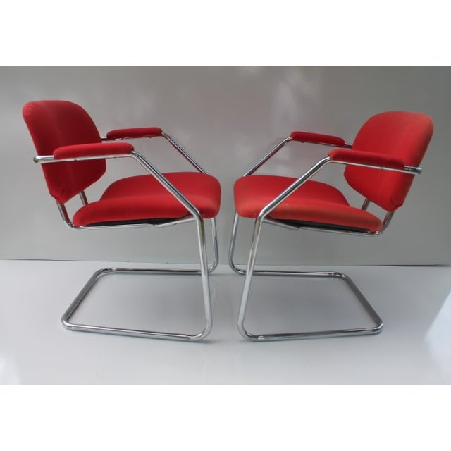 Mid-Century Chrome Accent Chairs - A Pair - Image 5 of 8