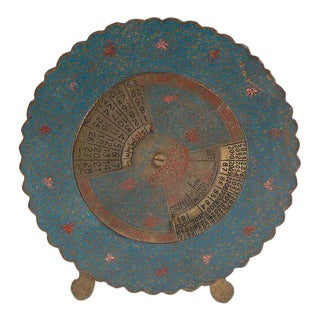 Vintage Brass Painted 100+ Year Calendar 1951-2080with Built-On Stand For Sale