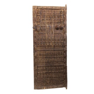 "Stunning Lg Dogon Door W/ Figures Mali African 71 "" H For Sale"