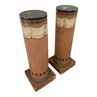 1930's Vintage French Column-a Pair For Sale