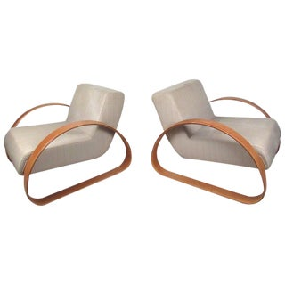 Armani Casa Modern Italian Lounge Chairs - A Pair For Sale
