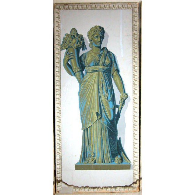Mid 19th Century Greek Goddesses Wallpaper Panels - Set of 4 For Sale - Image 5 of 11