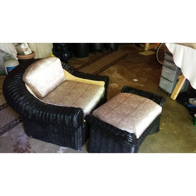Casa Bella Chair and Ottoman For Sale - Image 4 of 7