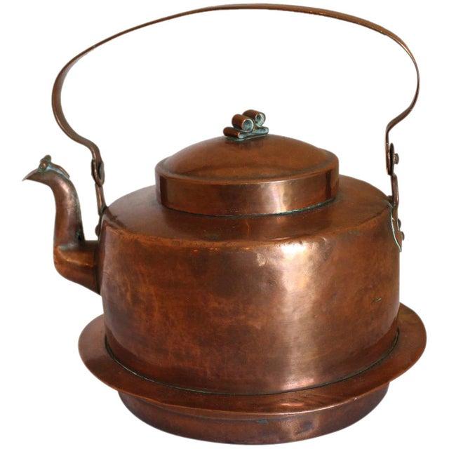 Copper Large Copper Tea Kettle For Sale - Image 8 of 9