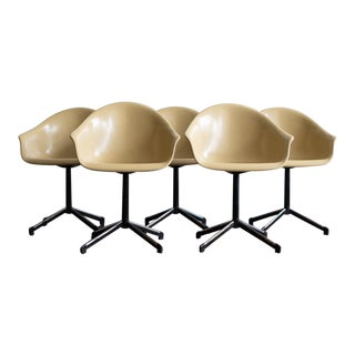 Mid Century Fiberglass Swivel Chairs- Set of 5 For Sale