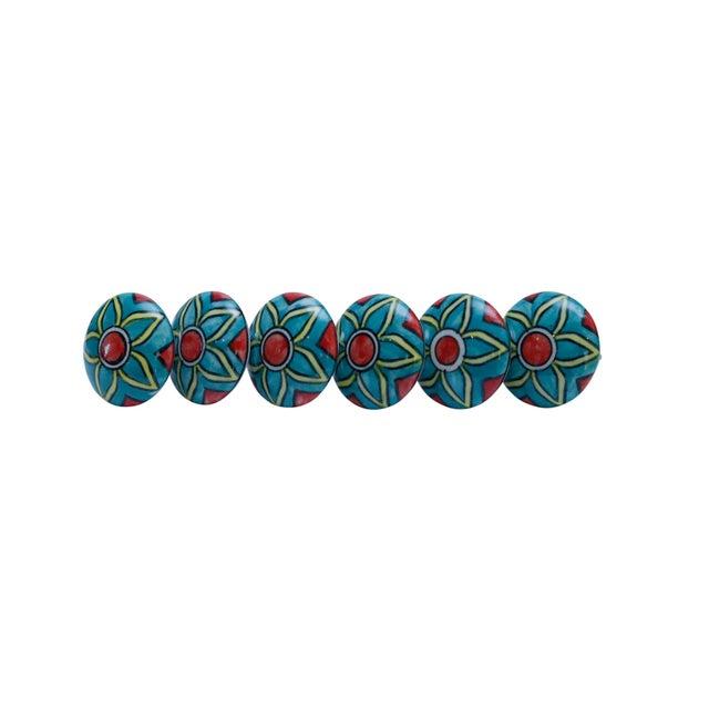 Ceramic Ceramic Knob Handles - Set of 6 For Sale - Image 7 of 7