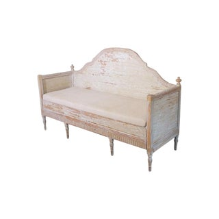 19th Century Swedish Gustavian Period Trundle Bed Sofa in Original Paint For Sale