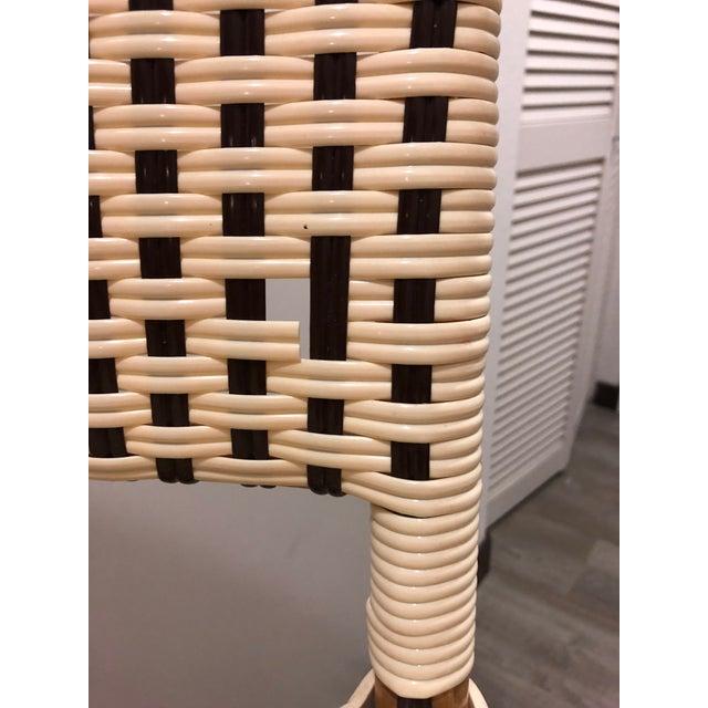 Maison Midi Cream & Brown Bistro Bar Stools - Set of 3 - Image 7 of 8