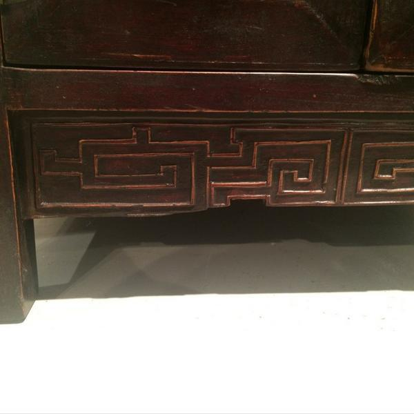 Wood 1900s Chinese Dark Wood Chest For Sale - Image 7 of 7