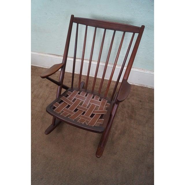 Frank Reenskaug Bramin Danish Teak Rocking Chair - Image 5 of 6