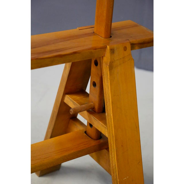 Wood Pair of MidCentury Easels for Leonardo Table by Achille Castiglioni for Zanotta For Sale - Image 7 of 8
