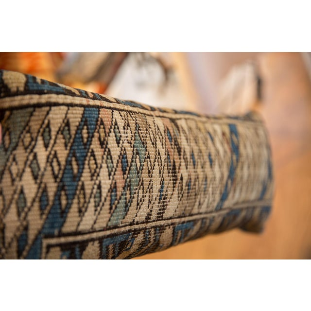 :: Vintage Caucasian rug fragment sourced by ONH and handmade (locally in NY by Freckles and Fabric) into a gorgeous one...