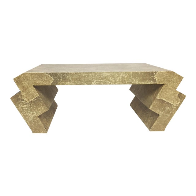 Vintage Goatskin Coffee Table in the Style of Karl Springer - Image 1 of 9