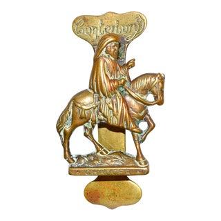 Chaucer on Horseback Door Knocker