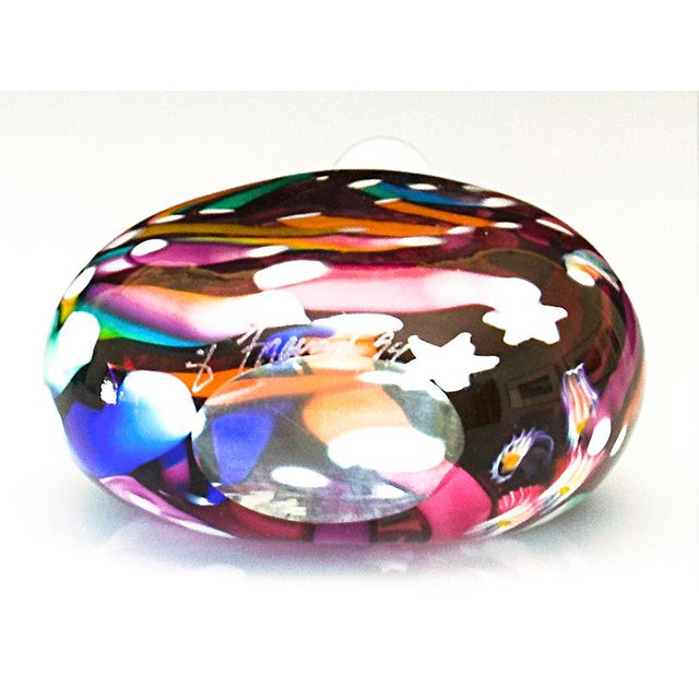 Hand Blown Signed Art Glass Perfume Bottle - Image 5 of 6