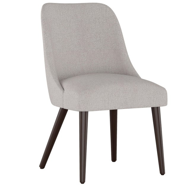Rounded Back Dining Chair in Aiden Platinum For Sale In Chicago - Image 6 of 7