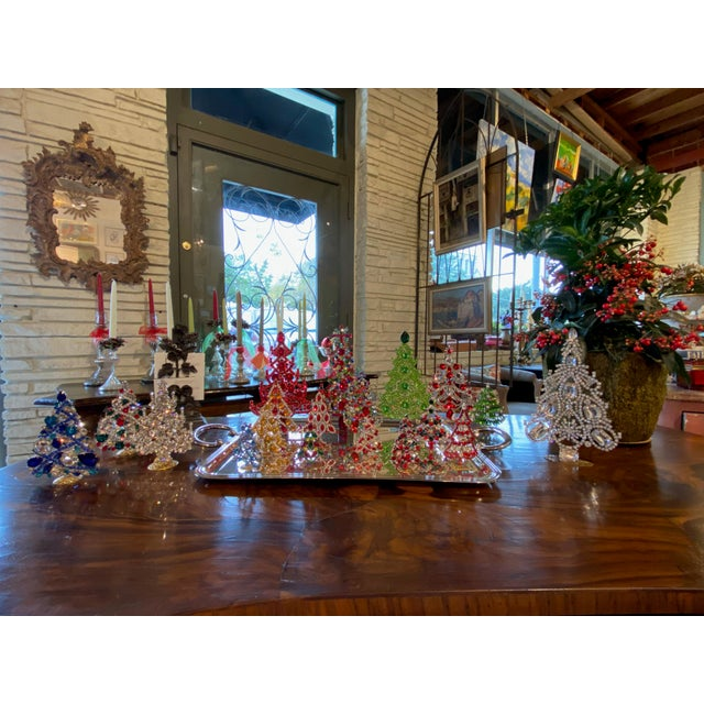 Multi Colored Czech Rhinestone Christmas Tree For Sale - Image 4 of 5