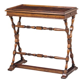 Scarborough House Crotch Mahogany Laptop Table For Sale
