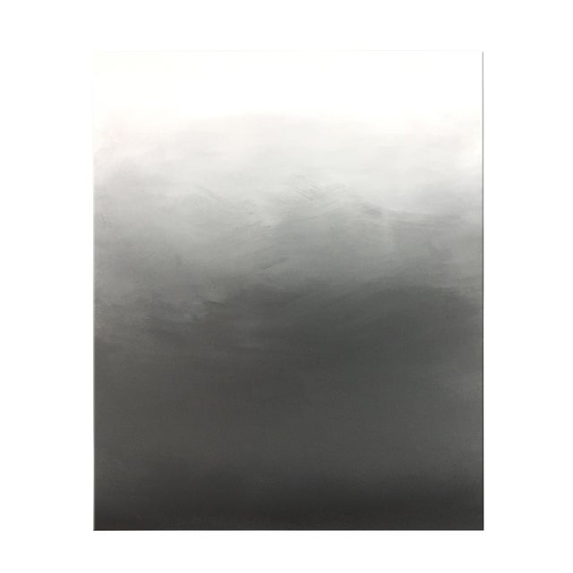 Abstract Gray Ombré Acrylic on Canvas - Image 1 of 4