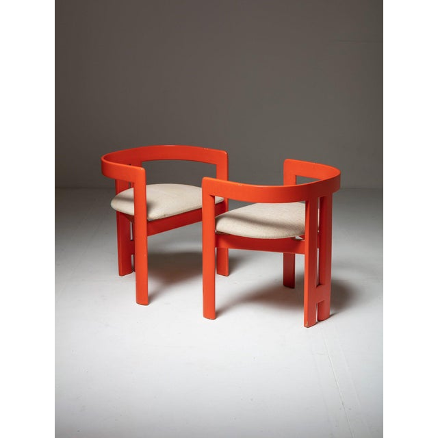 Pair of set of Pigreco armchairs by Tobia Scarpa for Gavina. Designed by Tobia Scarpa as final university exam on Franco...