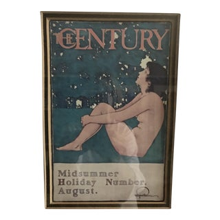 1920s Magazine Cover Print of a Nude From Century Magazine