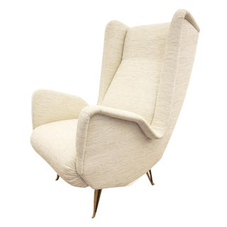 Large Wing Chair by Isa Bergamo, Italy, 1960's For Sale