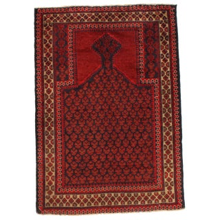 """Pasargad Ny Afghan Baluch Wool Rug - 3'1"""" X 4'5"""" For Sale"""