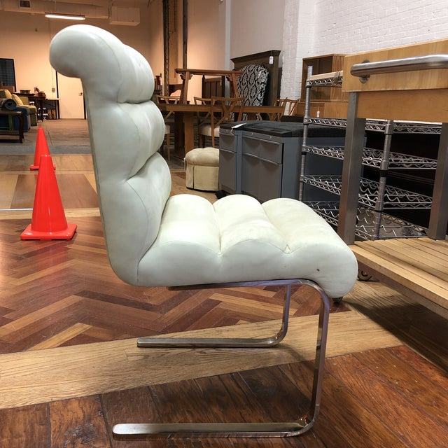 Mid-20th Century Frank Mariani Pace Collection Laguna Cantilever Chair For Sale In San Francisco - Image 6 of 11