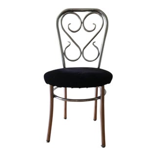 Mid-Century Chrome Thonet Parlor Chair For Sale