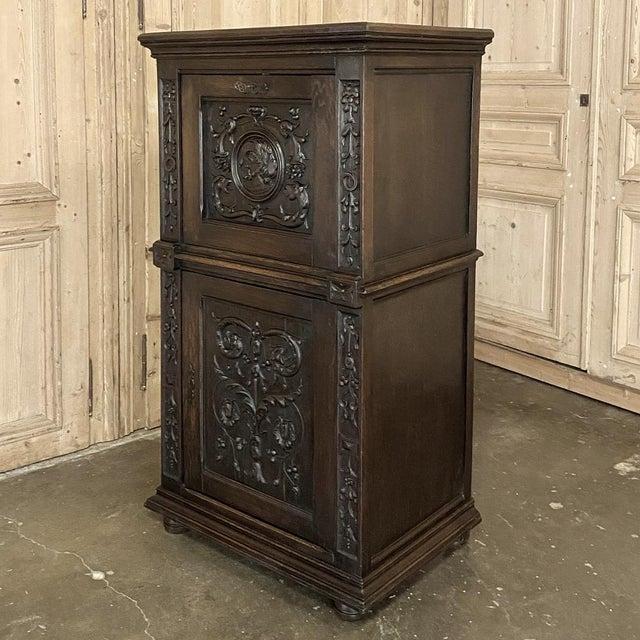 Renaissance Antique Renaissance Oak Drop-Front Cabinet For Sale - Image 3 of 12